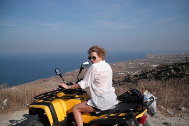 ATVs in Santorini