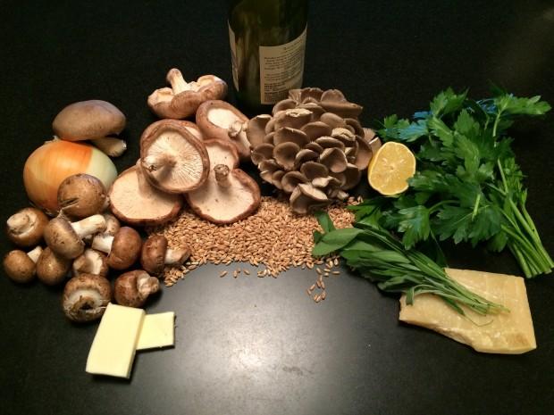 mushroom farro ingredients